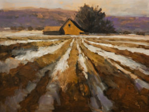 """Furrows No. 2,"" by Robert P. Roy 30 x 40 - oil $2450 (thick canvas wrap)"