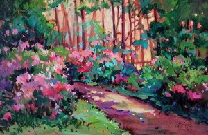 """Garden Path"" by Nancy O'Toole 24 x 36 - acrylic $1785 Framed"