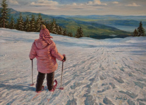 """Here I Go,"" by Don Li 6 x 8 - oil $800 Unframed $965 Custom framed"
