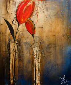"""SOLD """"Here With You,"""" by Laura Harris 20 x 24 – acrylic $2100 (thick canvas wrap without frame)"""