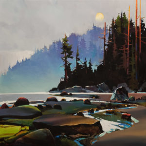 """SOLD """"Hidden Cove,"""" by Michael O'Toole 30 x 30 – acrylic $3640 (thick canvas wrap without frame)"""
