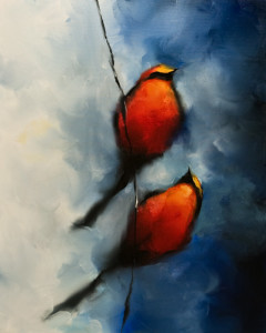 """SOLD """"I Look Up to You"""" by Harold Braul 24 x 30 – oil $1420 Unframed"""