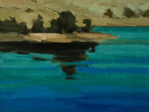 """Lac Bleu"" (Blue Lake), by Robert P. Roy 9 x 12 - oil $450 Unframed $680 Custom framed"