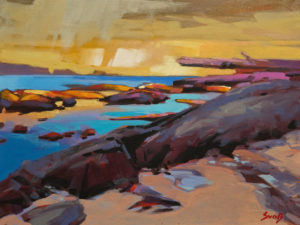 """Low Tide at Francoise Pasley Island,"" by Mike Svob 12 x 16 - acrylic $1415 Unframed"