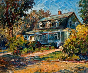 "SOLD ""Maison ancestrale,"" by Raynald Leclerc (Ancestral Home) 20 x 24 – oil $2300 Unframed"