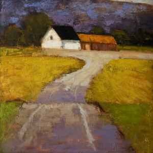 "SOLD Maison Blanche,"" by Robert P. Roy 40 x 40 – oil $2650 Unframed"
