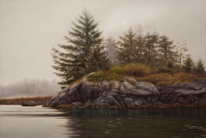 "SOLD ""Morning Stillness,"" by Ray Ward 11 1/2 x 17 – oil $1200 Unframed"