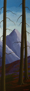 """Mountain Trees,"" by Peter McConville 12 x 36 - acrylic $2320 (thick canvas wrap without frame)"