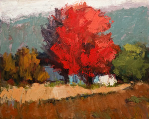 "SOLD ""Oka No. 1,"" by Robert P. Roy 24 x 30 – oil $1200 Unframed"