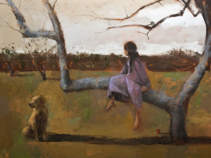 "SOLD ""The Orchard,"" by Paul Healey 36 x 48 – oil $2900 Unframed"