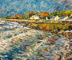 """Près du Rivage, St. Michel,"" by Raynald Leclerc 20 x 24 - oil $2500 Unframed"
