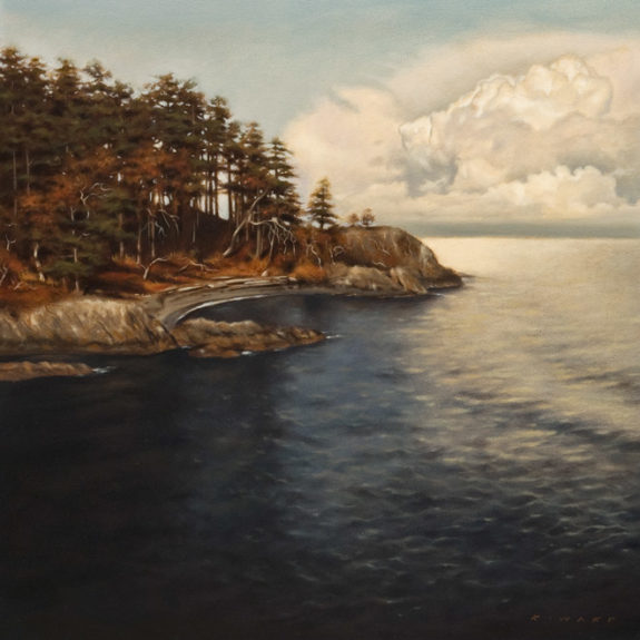 """Quiet Cove,"" by Ray Ward 12 x 12 - oil $1200 Unframed"