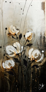 """SOLD """"Remember the Way,"""" by Laura Harris 12 x 24 – acrylic $1430 (thick canvas wrap without frame)"""