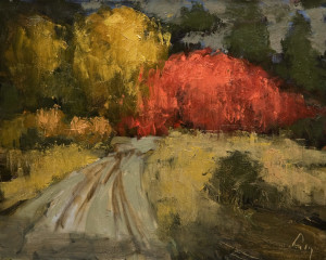 "SOLD ""Rêve d'Automne,"" by Robert P. Roy (""Autumn Dream"") 16 x 20 – oil $850 Unframed"