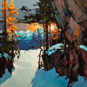 "SOLD ""Rundle's Central Gully,"" by Michael O'Toole 30 x 30 - acrylic"