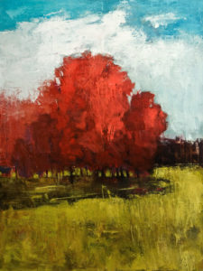 """Saison des Couleurs,"" (Colours of the Season) by Robert P. Roy 36 x 48 - acrylic $3300 (thick canvas wrap without frame)"