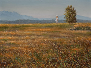 """SOLD """"Serene Afternoon,"""" by Don Li 6 x 8 – oil $750 Unframed"""