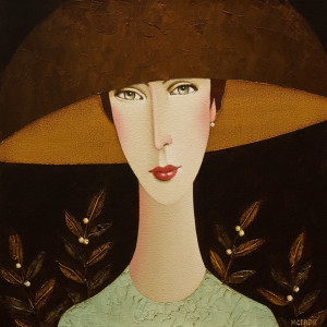 "SOLD ""Shannon,"" by Danny McBride 12 x 12 – acrylic $900 Unframed $1050 Custom framed"