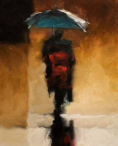 "SOLD ""Shelter and Solitude"" by Harold Braul 24 x 30 - oil $1660 Unframed"
