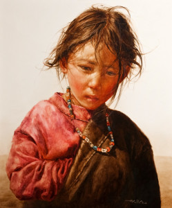 "SOLD ""Soft Warm Light,"" by Donna Zhang 30 x 36 – oil $7060 Framed $6100 Unframed"