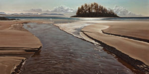 "SOLD ""Spring Runoff, Schooners Cove,"" by Ray Ward 24 x 48 – oil $4410 Unframed"