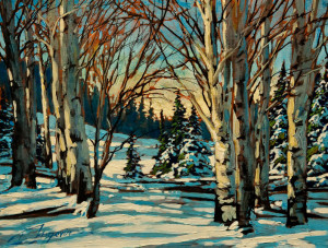 "SOLD ""Sunshine Study"" by David Langevin 9 x 12 - acrylic $595 Unframed $860 in show frame"