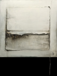 """SOLD """"That's How the Light Gets In,"""" by Laura Harris 30 x 30 – acrylic $3150 (thick canvas wrap without frame)"""