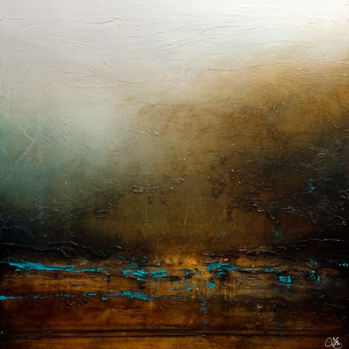 """There's Wonder in Shadows,"" by Laura Harris 48 x 48 - acrylic $8050 (thick canvas wrap without frame)"