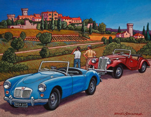 """SOLD """"Under a Tuscan Sun,"""" by Michael Stockdale 11 x 14 – acrylic $570 Unframed"""