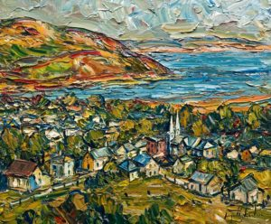 """Vue sur Baie Saint-Paul, Charlevoix,"" by Raynald Leclerc 20 x 24 - oil $2500 Unframed"