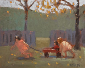 "SOLD ""Warm Autumn Day,"" by Paul Healey 8 x 10 – oil $450 Unframed"