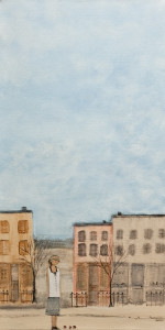 "SOLD SOLD ""West End,"" by Louise Lauzon 12 x 24 – acrylic $700 Unframed"