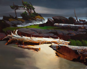 "SOLD ""West Wind on the West Coast,"" by Michael O'Toole 32 x 40 – acrylic $4900 Unframed"