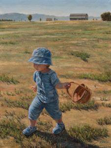 """What Will I Find Today?,"" by Don Li 9 x 12 - oil $1100 Unframed"