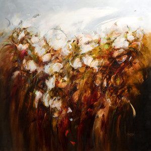 """Wind Shadows in the Meadow"" by Carole Arnston 46 x 48 - oil $5100 Unframed"