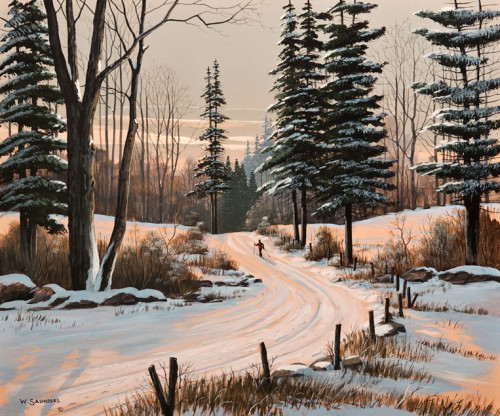 """Winter Glow,"" by Bill Saunders 15 x 18 - acrylic $1550 Unframed"