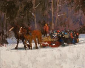 "SOLD ""Winter Outing,"" by Paul Healey 16 x 20 – oil $1250 Unframed"