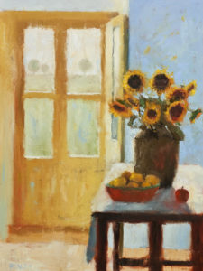 "SOLD ""Yellow and Blue,"" by Paul Healey 18 x 24 - oil $1550 Unframed"