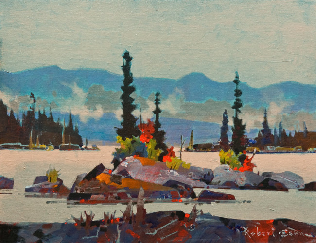 "SOLD ""Choice Islets, Squirrel Cove, Cortes Island, B.C."" 14 x 18 - acrylic $5650 in show frame ($5260 in standard frame) $5000 Unframed"
