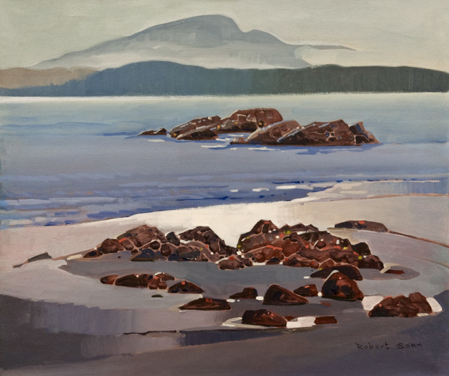 "SOLD ""On the West Coast of Vancouver Island"" 20 x 24 - acrylic $8700 in show frame ($8220 in standard frame) $7900 Unframed"
