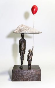 """Perfect Symmetry on a Cloudless Day,"" by Michael Hermesh 15 1/2 (H) x 7 (L) x 5 (W) - bronze Edition of 15 $3850"