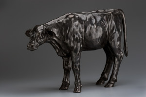 """Calf #1,"" by Nicola Prinsen Bronze - 14 1/2"" (H) x 22"" (L) No. 1 of edition of 9 $7000"