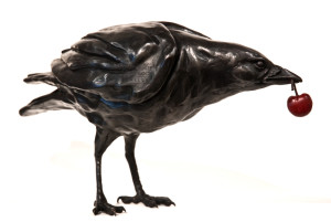 "SOLD OUT ""Cherry Pie,"" by Nicola Prinsen 18"" (L) x 9"" (H) - bronze Edition of 12 $3900"