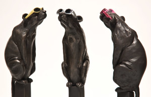 "SOLD OUT ""Eclipse,"" by Nicola Prinsen 13"" height including base - bronze $1100 each Edition of 12"