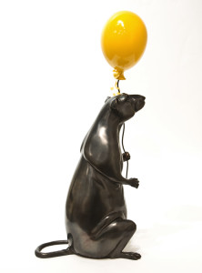 """Ernest,"" by Nicola Prinsen 16 1/2"" (H) - bronze (and resin balloon) $4500"