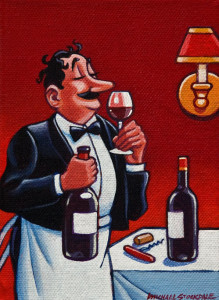 "SOLD ""Full Bodied"" by Michael Stockdale 5 x 7 - acrylic $240 Unframed $325 in show frame"