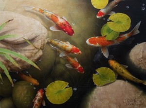 """Good Luck Pond No. 2"" 30 x 40 - Giclée print on canvas Artist's Proof - $1,550 CAD Unframed USD $1195 Unframed"