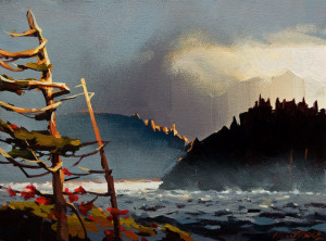 "SOLD ""Howe Sound on a Bruised Day"" by Michael O'Toole 9 x 12 - acrylic $660 Unframed $925 in show frame"