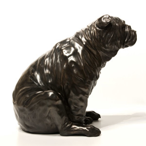 """The Kiss,"" by Nicola Prinsen 17 1/2"" (H) x 19"" (L) x 13"" (W) - bronze No. 2 of edition of 9 $6200"