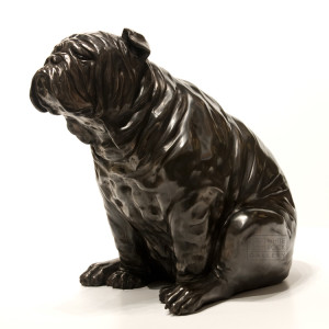 """""""The Kiss,"""" by Nicola Prinsen 17 1/2"""" (H) x 19"""" (L) x 13"""" (W) - bronze No. 2 of edition of 9 $6200"""